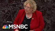Democrats Argue Their Case To Remove President Donald Trump - Day That Was | MSNBC 5
