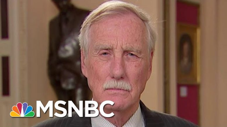 Angus King On Trump impeachment: This Is More Serious Than I Thought | The 11th Hour | MSNBC 1