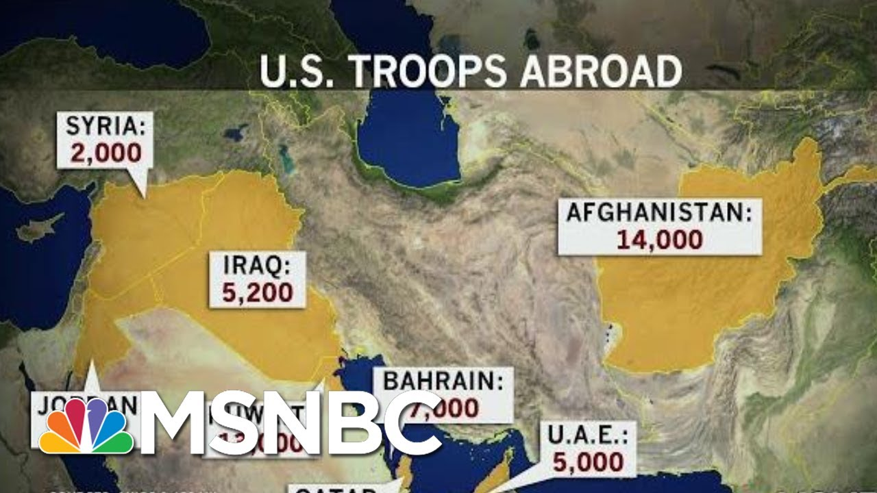 US Servicemembers Abroad At Increased Risk After Trump Iran Attack   Rachel Maddow   MSNBC 1