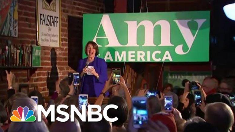Amy Klobuchar Makes Last-Minute Trip To Iowa, Swipes At Pete Buttigieg | MSNBC 1