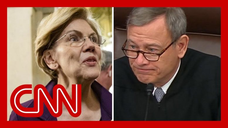 Sen. Warren's question takes aim at Chief Justice Roberts 1