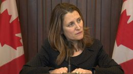 Deputy PM Freeland: House 'should get it done' on the new NAFTA 5