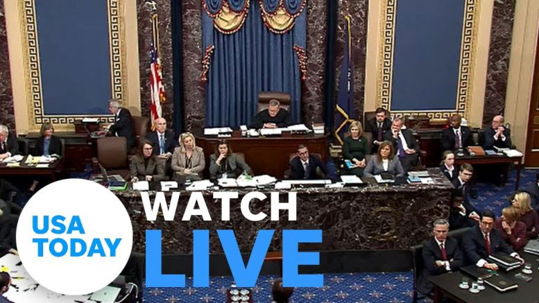 Senate Impeachment Trial of President Donald Trump: Day 3 (LIVE) | USA TODAY 1