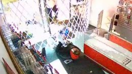 Caught on cam: B.C. robbery suspect gets trapped inside store 8