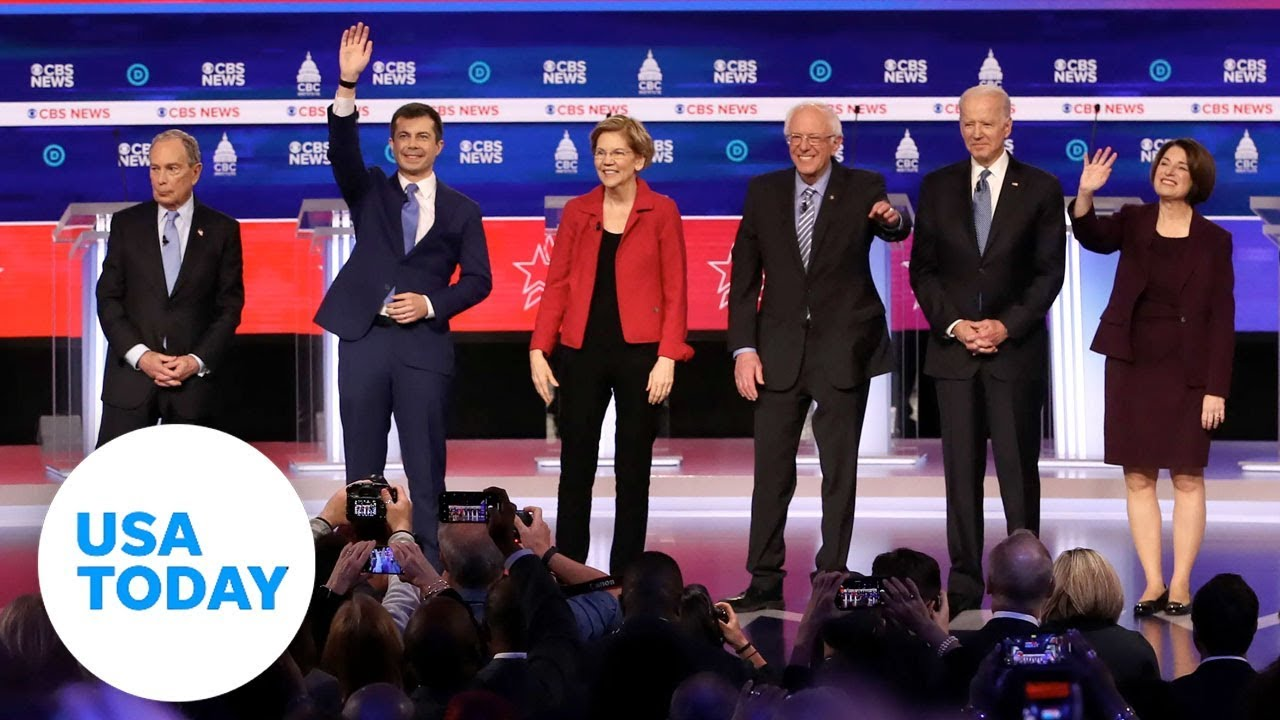 Democratic candidates debate before South Carolina and Super Tuesday | USA TODAY 2