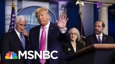 Trump Addresses Coronavirus Surrounded By Public Health Experts. | Morning Joe | MSNBC 5