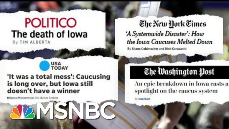 What's Next For The Iowa Caucus? | Craig Melvin | MSNBC 1