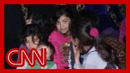 Family creates underground home to escape airstrikes in Syria 2