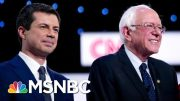 Decision Desk: Pete Buttigieg, Bernie Sanders Vying For First Place In Early Iowa Data | MSNBC 4