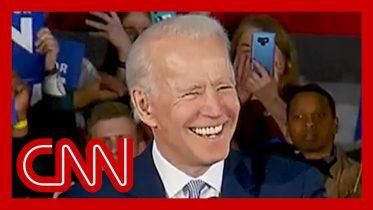Biden takes shot at Sanders in victory speech 6