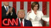 Nancy Pelosi rips up Trump's State of the Union speech 2