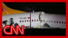 Plane breaks apart after skidding off runway in Turkey 3