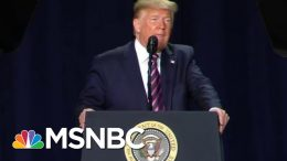 President Donald Trump Blasts Impeachment Foes At National Prayer Breakfast | Velshi & Ruhle | MSNBC 7