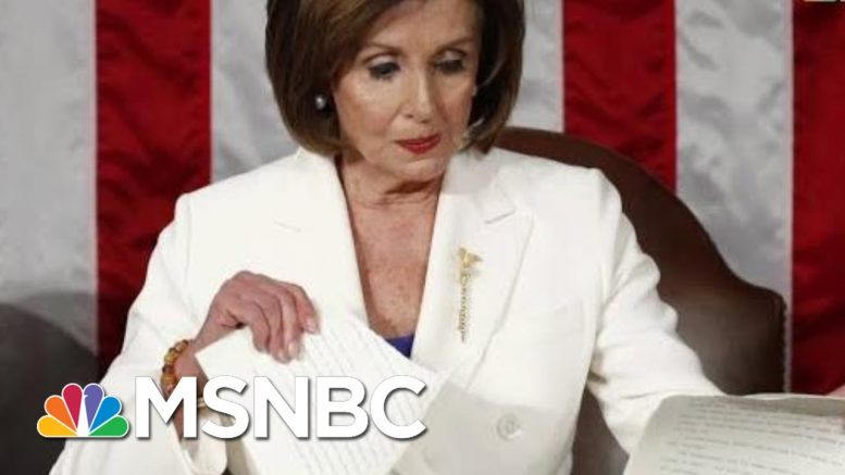 Nancy Pelosi: After Trump Shredded The Constitution, I Shredded His State Of His Mind | MSNBC 1