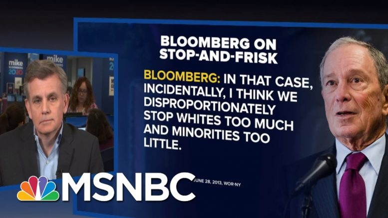 Bloomberg 2020 Manager Confronted Over Racial Profiling Record On Live TV   MSNBC 1