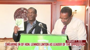 HON. LENNOX LINTON OFFICIALLY SWORN IN AS LEADER OF THE OPPOSITION 6