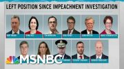 Witnesses Left Scattered In Wake Of Trump Impeachment Scandal | Rachel Maddow | MSNBC 3