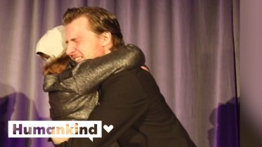 Emotional moment girl hugs donor for first time | Humankind 3
