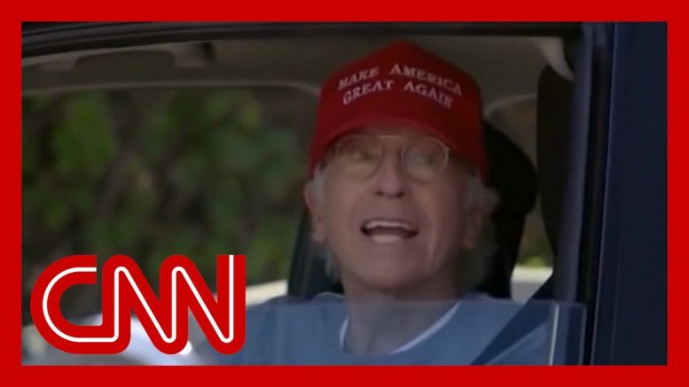 Trump tweets clip of Larry David in MAGA hat. Here's the part he might have missed 1