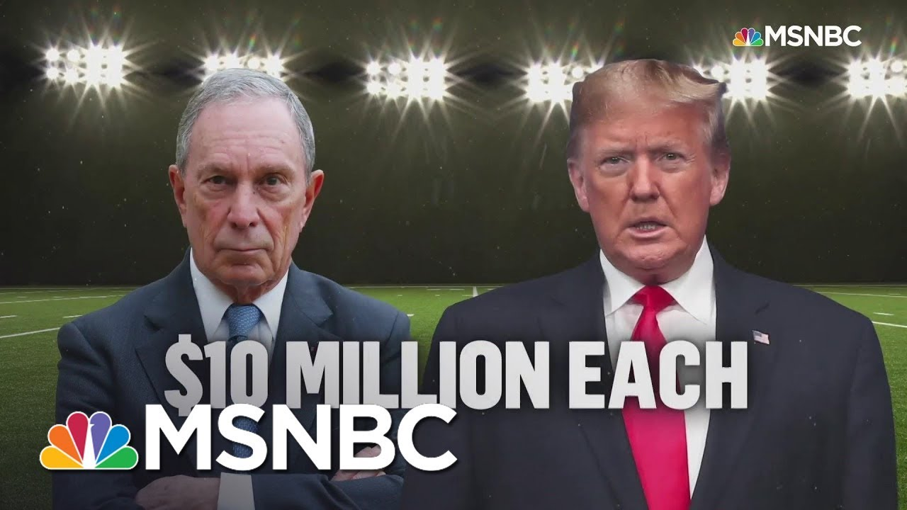 Bloomberg, Trump Kick Off Super Bowl With Competing Commercials   MSNBC 9