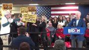 Jill Biden helps push heckler away from husband Joe Biden in N.H. 4