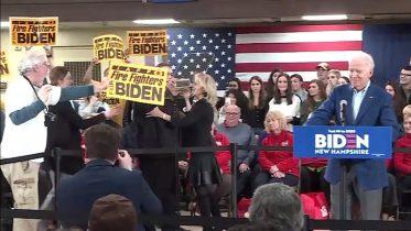 Jill Biden helps push heckler away from husband Joe Biden in N.H. 5
