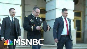 Trump Vindictiveness Sends Chilling Message To U.S. Officials | Rachel Maddow | MSNBC 6
