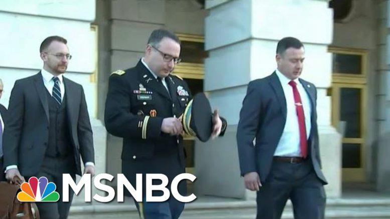 Trump Vindictiveness Sends Chilling Message To U.S. Officials | Rachel Maddow | MSNBC 1