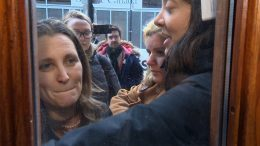 Freeland blocked by anti-pipeline protesters in Halifax 4