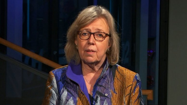 """Elizabeth May: """"Government not respecting the rule of law"""" regarding GasLink pipeline 1"""