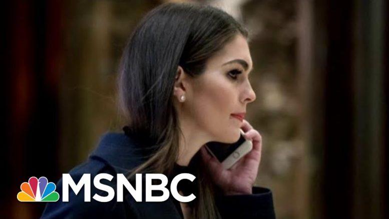 Hope Hicks Returning To The White House To Work With Jared Kushner | Hallie Jackson | MSNBC 1
