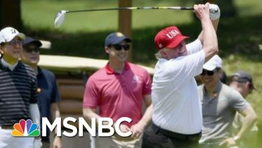Trump's 247 Days Of Golf Costs Millions In Taxpayer Dollars | The Last Word | MSNBC 6