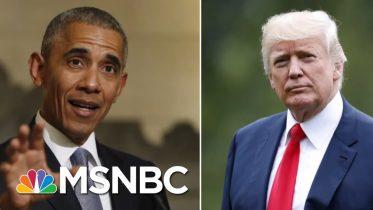 Stephanie Ruhle Fact-Checks Trump's Economy Claims After Obama Tweet | Velshi & Ruhle | MSNBC 5
