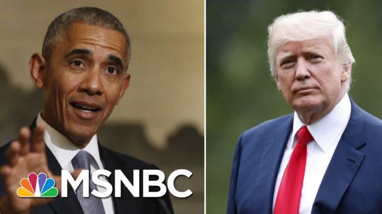 Stephanie Ruhle Fact-Checks Trump's Economy Claims After Obama Tweet   Velshi & Ruhle   MSNBC 1