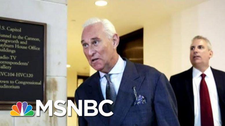 Judge Decides Not To Delay Roger Stone's Sentencing   Craig Melvin   MSNBC 1