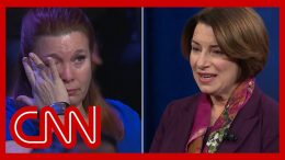 Klobuchar's story brings mass shooting survivor to tears | CNN Town Hall 3