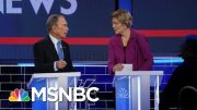 After Rough Exchange, Bloomberg, Warren Had Cordial Conversation During Commercial Break | MSNBC 4