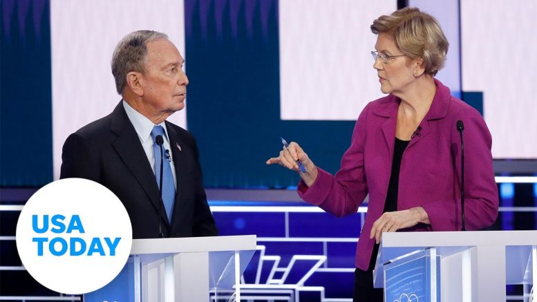 Michael Bloomberg takes punches in his first debate | USA TODAY 1