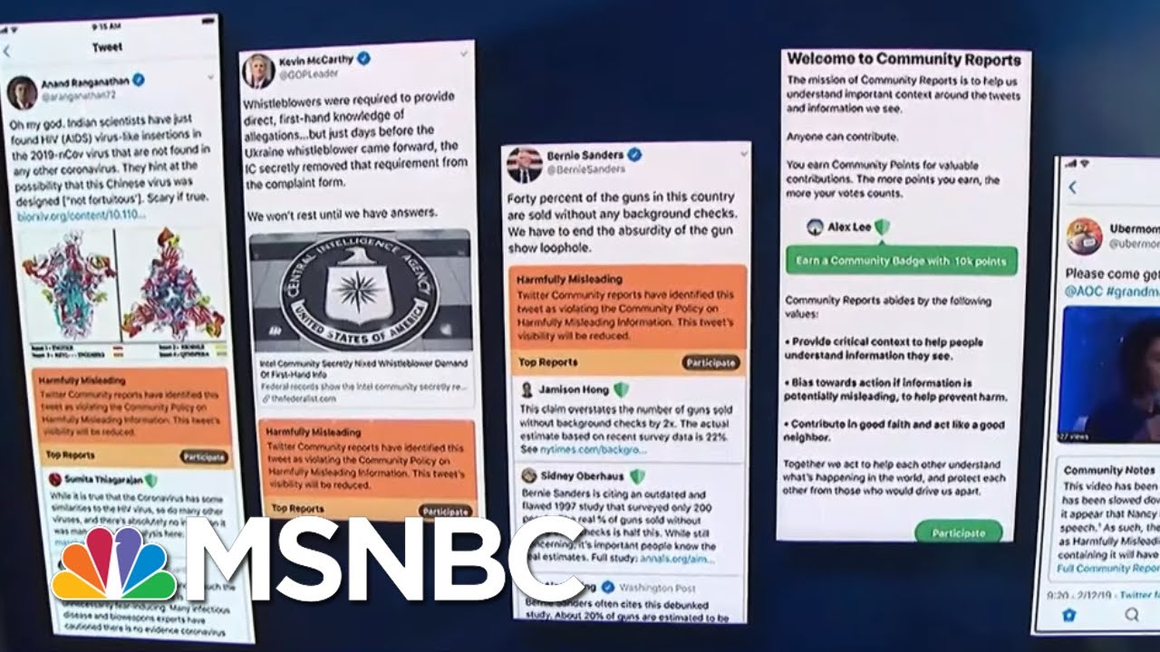 Exclusive: Twitter Testing New Ways To Fight Misinformation   Velshi & Ruhle   MSNBC 7