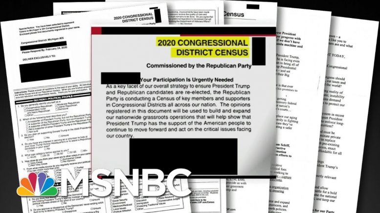 Republicans Mail Out Fake Census Documents | All In | MSNBC 1