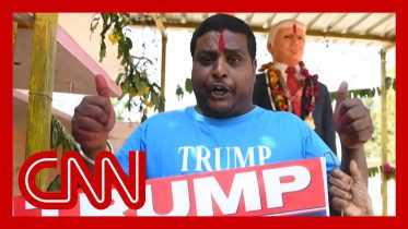 Man builds shrine to Trump for his visit 6