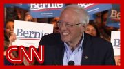 Watch Sanders' reaction to projected win in Nevada 4