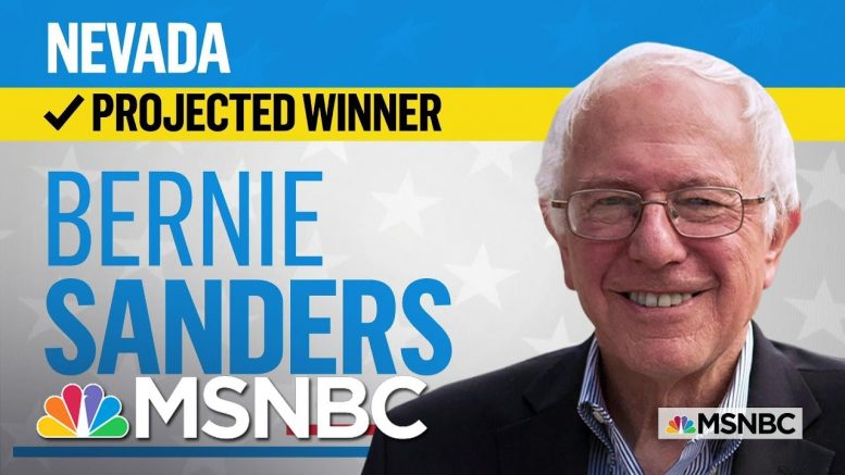 Sen. Bernie Sanders Is The Projected Winner Of The Nevada Democratic Caucus | MSNBC 1