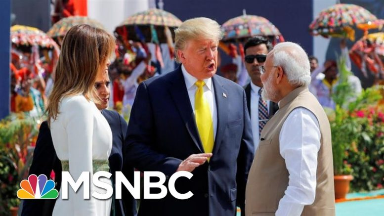 President Donald Trump Makes First Visit To India As President | Morning Joe | MSNBC 1