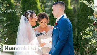 Breast cancer survivor gets wedding of her dreams   Humankind 5