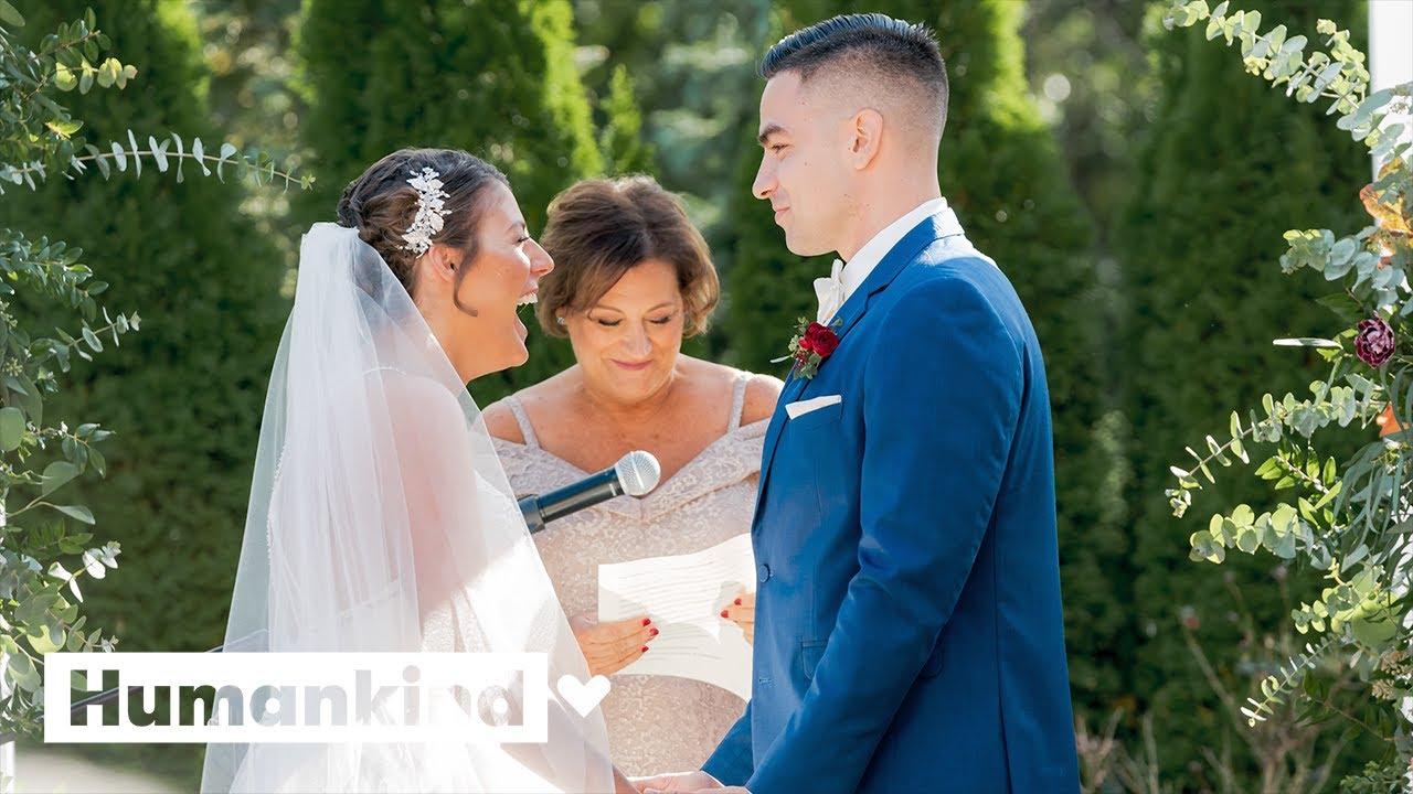 Breast cancer survivor gets wedding of her dreams | Humankind 3
