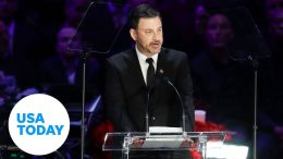 Jimmy Kimmel gets emotional remembering Kobe and Gianna Bryant at memorial service | USA TODAY 1