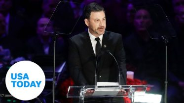 Jimmy Kimmel gets emotional remembering Kobe and Gianna Bryant at memorial service | USA TODAY 6