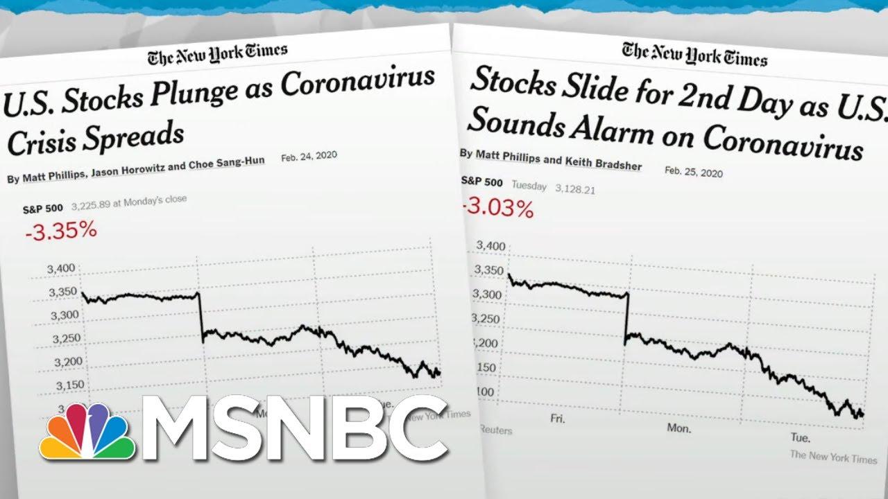Trump Admin Lacks Credibility To Calm Markets On Coronavirus News   Rachel Maddow   MSNBC 1