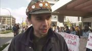 Protesters rally outside B.C. government building 3